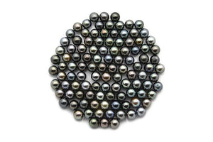 Small 7mm Tahitian Pearls, Round Dark Loose Pearls (105)