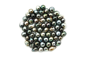 Tahitian Pearl Short Baroque Dark Loose Pearls (107)
