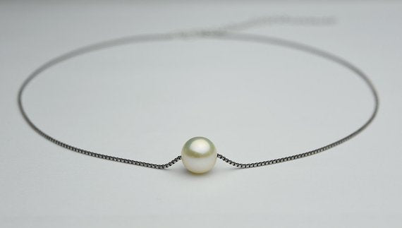 Freshwater Pearl Silver Necklace With Extension