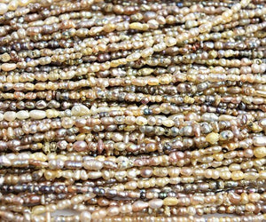 Natural Pearl Strands from Mexico Pinctada Mazatlania strands GIA