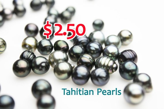 40 pcs Tahitian Pearls for 99 Dollars (Lot #100), Tahiti Pearls, 7-11mm