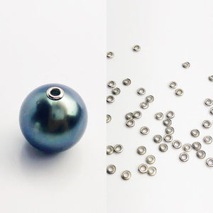 14K White Gold 2.0mm Bead Grommet with 1.5mm Hole