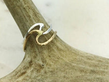 Hawaiian Wave Ring, Yellow Gold Filled, Hand Made in Hawaii