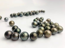 12 pcs, Tahitian Pearls, Round, Dark, BIG 12-14.9mm, Loose Pearls, Round, A Quality, Bulk Discount Pricing, wholesale tahitian pearls