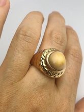 18K Gold - Natural Conch Pearl - Statement Ring - Size 10.5 - Handmade