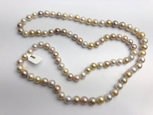 9-11mm Golden South Sea Pearl Necklace Strand, Natural Color, AAA Quality, 36 inches