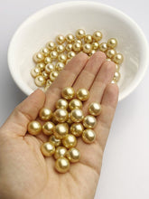Top Quality Golden South Sea Loose Pearls, Round, 12mm - 12.9mm, AAA+ Quality, Natural Color
