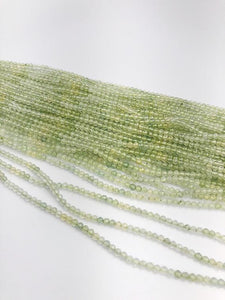 HALF OFF SALE - Prehnite Gemstone Beads, Full Strand, Semi Precious Gemstone, 13""