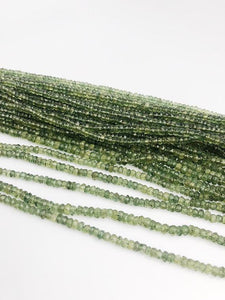 HALF OFF SALE - Green Apetite Gemstone Beads, Full Strand, Semi Precious Gemstone, 15""