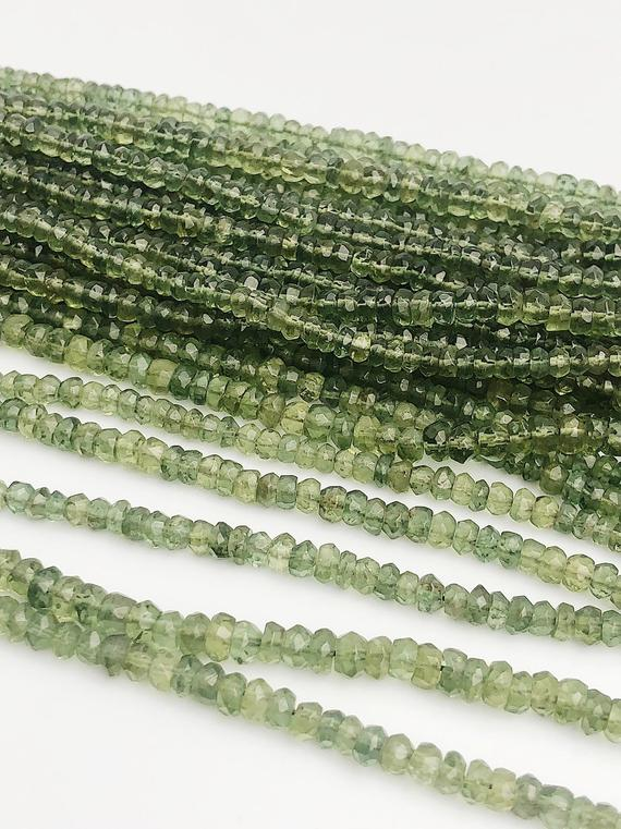 HALF OFF SALE - Green Apetite Gemstone Beads, Full Strand, Semi Precious Gemstone, 15