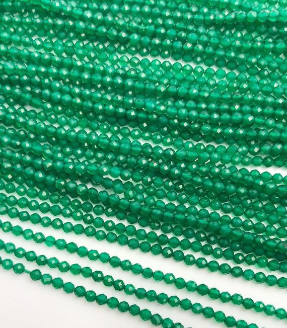 HALF OFF SALE- Green Onyx Gemstone Beads, Full Strand, Semi Precious Gemstone, 13