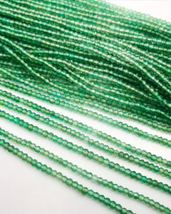 HALF OFF SALE- Green Onyx Gemstone Green and White Graduated Beads, Full Strand, Semi Precious Gemstone , 13""