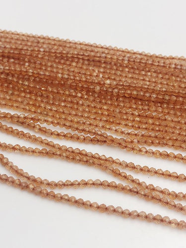 HALF OFF SALE - Sunstone Gemstone Beads, Full Strand, Semi Precious Gemstone, 13