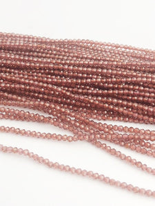 HALF OFF SALE - Garnet Gemstone Beads, Full Strand, Semi Precious Gemstone, 13""