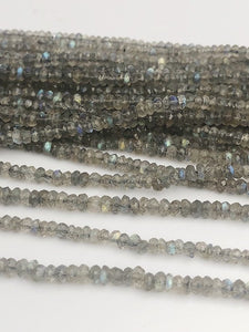 HALF OFF SALE - Labradorite Gemstone Beads, Full Strand, Semi Precious Gemstone, 13""