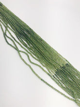 HALF OFF SALE - Green Tourmaline Gemstone Beads, Full Strand, Semi Precious Gemstone, 13""
