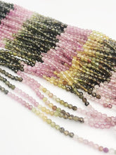 HALF OFF SALE - Watermelon Tourmaline Gemstone Beads, Full Strand, Semi Precious Gemstone, 13""