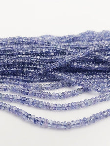 HALF OFF SALE - Tanzanite Gemstone Beads, Full Strand, Semi Precious Gemstone, 13""