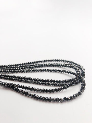 HALF OFF SALE - Gray Diamond Gemstone Beads, Full Strand, 16