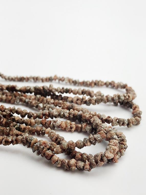 HALF OFF SALE - Earthtone Diamond Gemstone Beads, Full Strand, 15