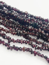 HALF OFF SALE - Garnet Gemstone Beads, Full Strand, Semi Precious Gemstone, 34""