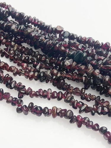 HALF OFF SALE - Garnet Gemstone Beads, Full Strand, Semi Precious Gemstone, 34