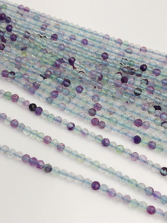 HALF OFF SALE -Fluorite Gemstone Beads, Full Strand, Semi Precious Gemstone, 13