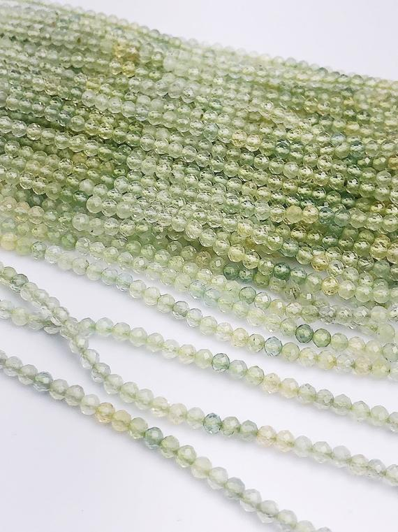 HALF OFF SALE - Prehnite Gemstone Beads, Full Strand, Semi Precious Gemstone, 13
