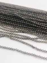 HALF OFF SALE - Gray Moonstone Gemstone Beads, Full Strand, Semi Precious Gemstone, 13""