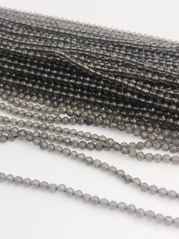 HALF OFF SALE - Gray Moonstone Gemstone Beads, Full Strand, Semi Precious Gemstone, 13