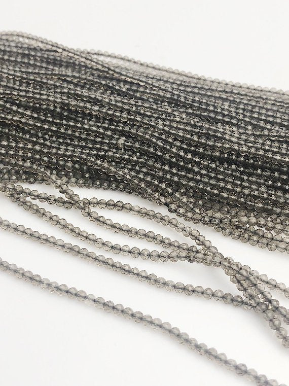 HALF OFF SALE - Smokey Quartz Gemstone Beads, Full Strand, Semi Precious Gemstone, 13