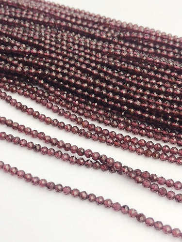 HALF OFF SALE - Rhodolite Garnet Gemstone Beads, Full Strand, Semi Precious Gemstone, 13