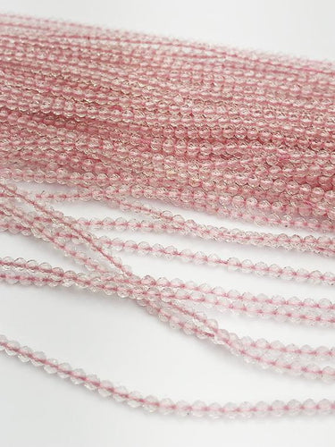 HALF OFF SALE - Rose Quartz Gemstone Beads, Full Strand, Semi Precious Gemstone, 13
