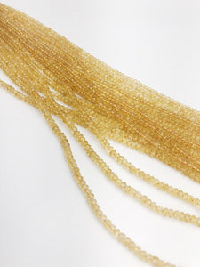 HALF OFF SALE - Citrine Gemstone Beads, Full Strand, Semi Precious Gemstone, 13""