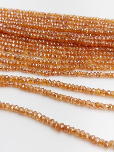 HALF OFF SALE - Coated Coraline Gemstone Beads, Full Strand, Semi Precious Gemstone, 13