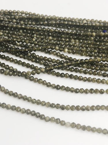 HALF OFF SALE - Cats Eye Gemstone Beads, Full Strand, Semi Precious Gemstone, 13