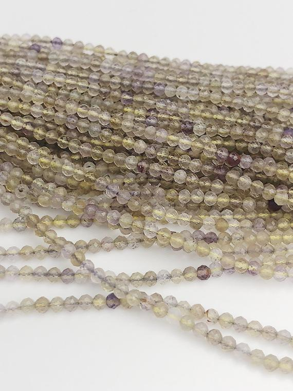 HALF OFF SALE - Ametrine Gemstone Beads, Full Strand, Semi Precious Gemstone, 13