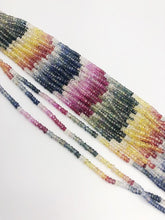 HALF OFF SALE - Rainbow Sapphire Gemstone Beads, Full Strand, Semi Precious Gemstone, 13""