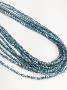 HALF OFF SALE - Blue Diamond Gemstone Beads, Full Strand, 14""