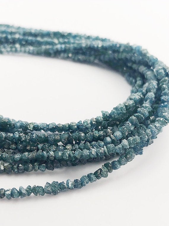 HALF OFF SALE - Blue Diamond Gemstone Beads, Full Strand, 14