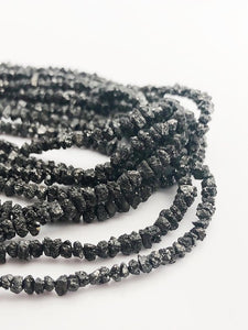 HALF OFF SALE - Black Diamond Gemstone Beads, Full Strand, 16""