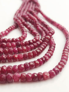 HALF OFF SALE - Ruby Gemstone Beads, 7 Strands Total