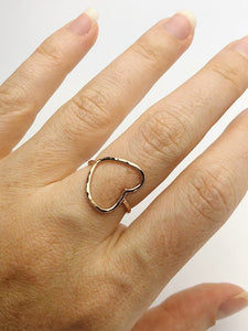 14k gold filled Heart Ring - Silver, Yellow Gold and Rose Gold Filled