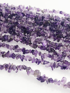 HALF OFF SALE - Amethyst Gemstone Beads, Full Strand, Semi Precious Gemstone, 18""