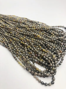Assorted Color Faceted Diamonds, Gemstone Beads, All Natural Color, Full Strand, 16""