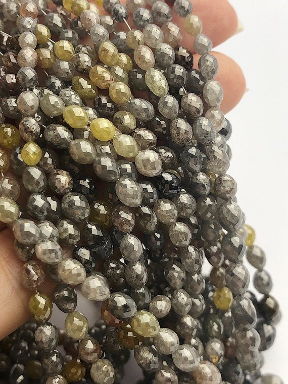 Assorted Color Faceted Diamonds, Gemstone Beads, All Natural Color, Full Strand, 16