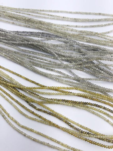 Assorted Color Faceted Diamonds, Gemstone Beads, All Natural Color, Full Strand, 14