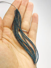Blue Diamonds, Gemstone Beads, Half Strand, 4.5""