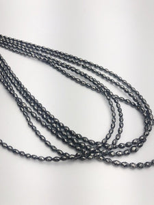 Black Diamonds, Gemstone Beads, Full Strand, 14""