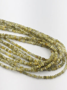 Natural Yellow Diamond Chip Gemstone Beads, Full Strand, 16""